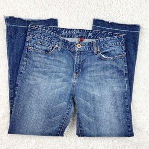 Guess Carla Bootcut Stretch Raw Hem Jeans Size 32